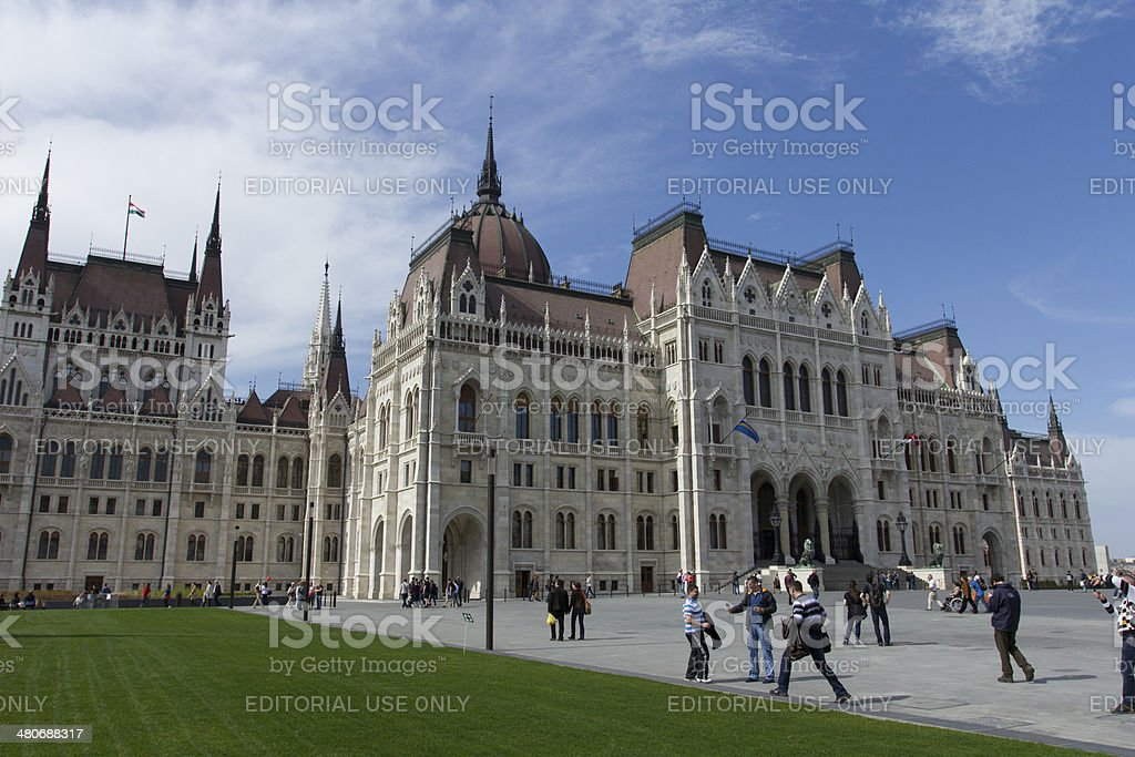 Hungarian Parliament royalty-free stock photo