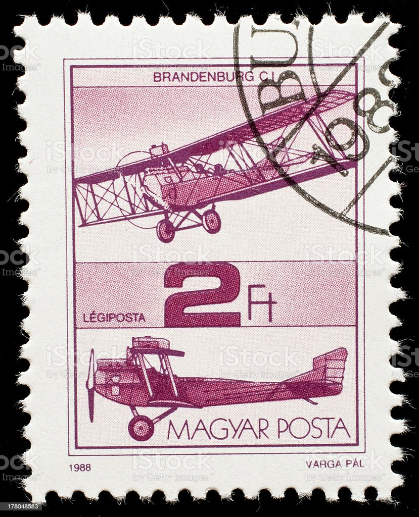Hungarian postage stamp from stock photo
