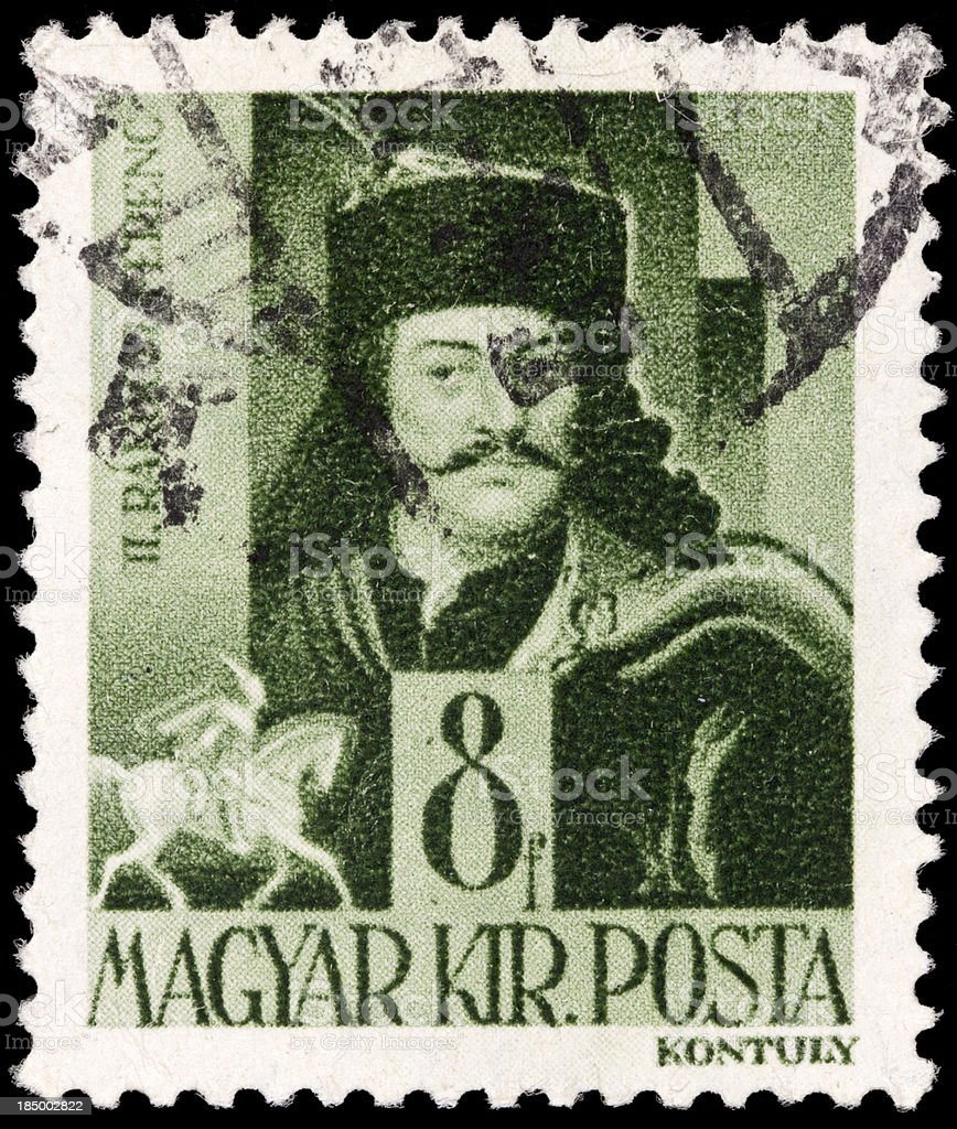 Hungarian Postage Stamps stock photo