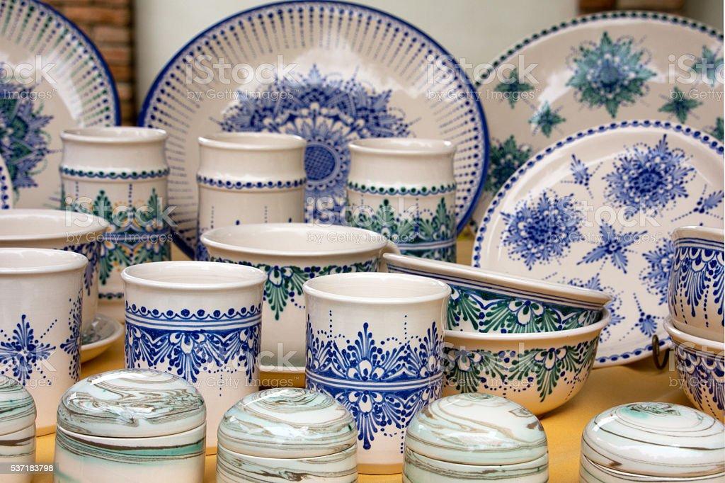 Hungarian pottery stock photo