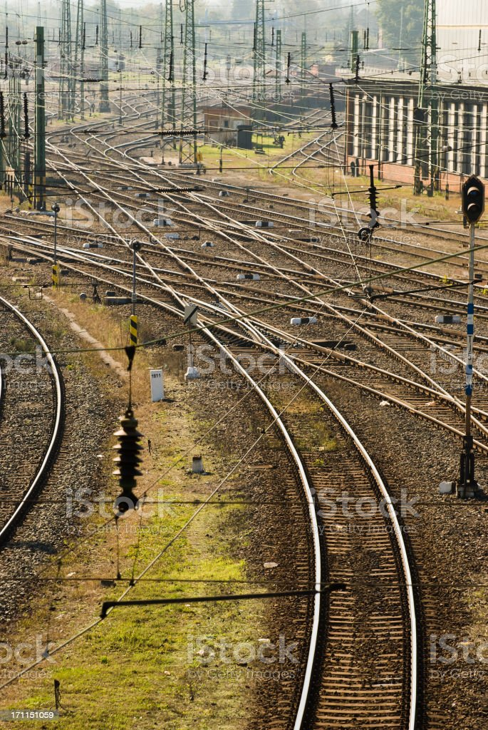Hungarian railroad stock photo
