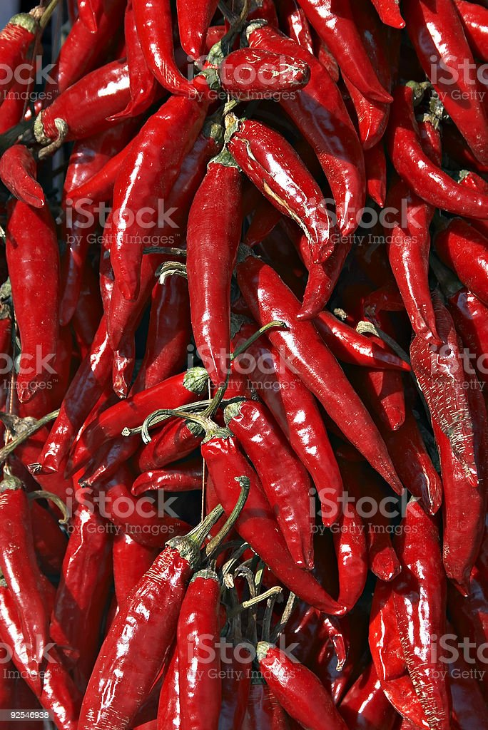 Hungarian red hot pepper stock photo