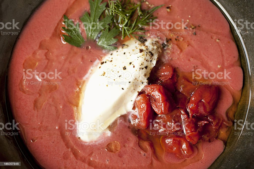 Hungarian sour cherry soup stock photo