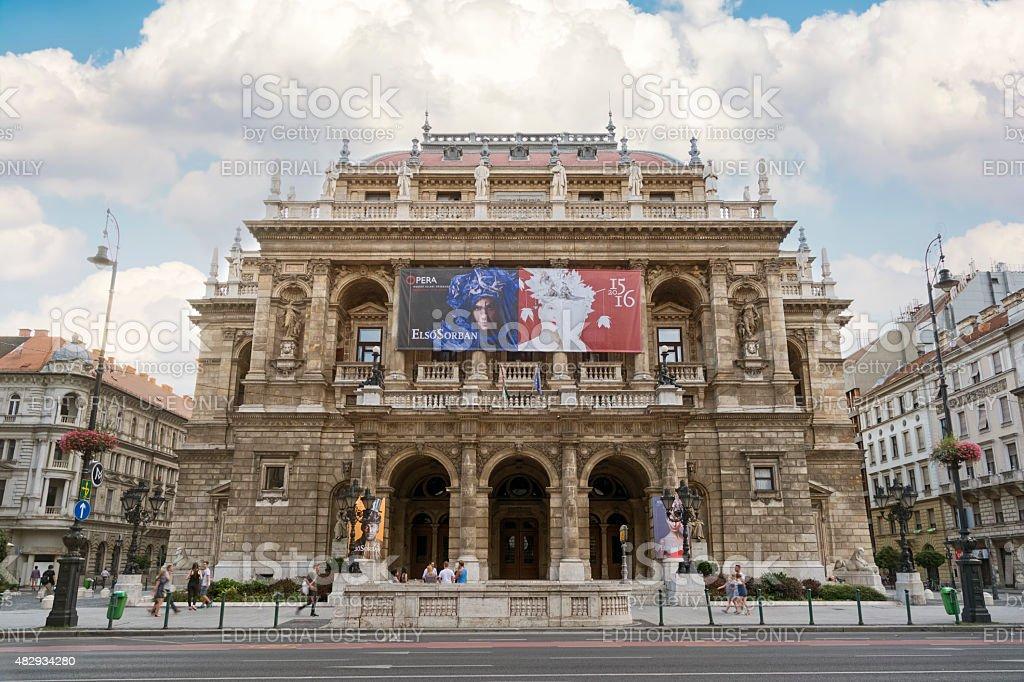 Hungarian State Opera House, Budapest, Hungary stock photo