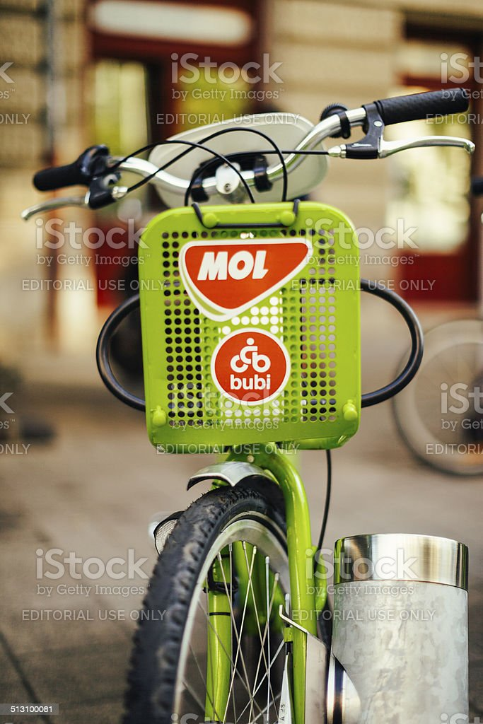Hungary, Budapest, bikes for rent stock photo