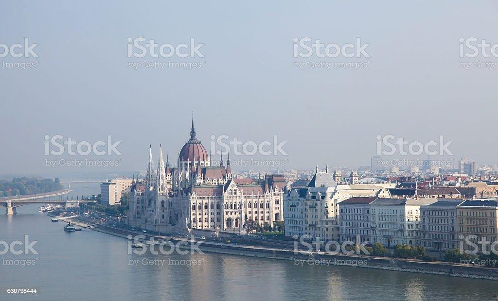 Hungary, Budapest, Hungarian Parliament Building stock photo