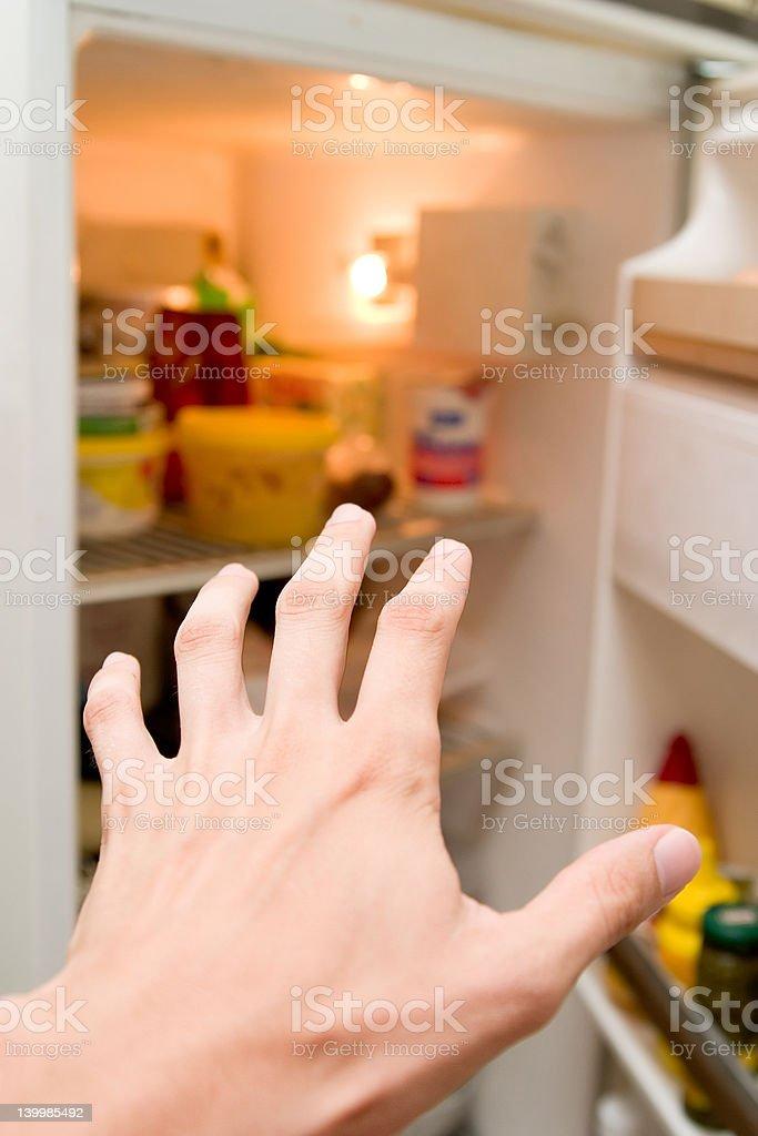 Hunger at night stock photo