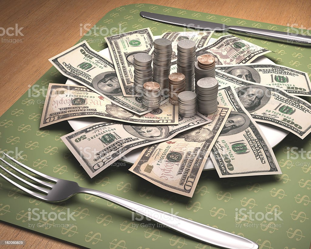Hunger For Money royalty-free stock photo