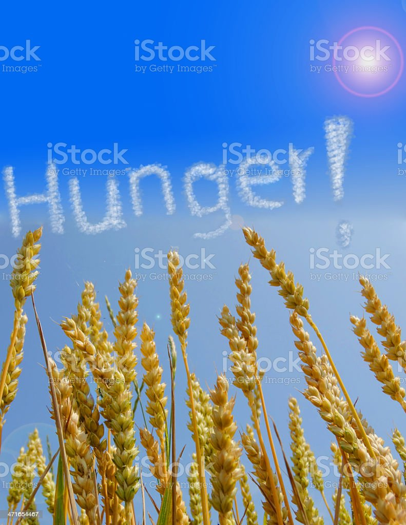 Hunger Global food crisis stock photo