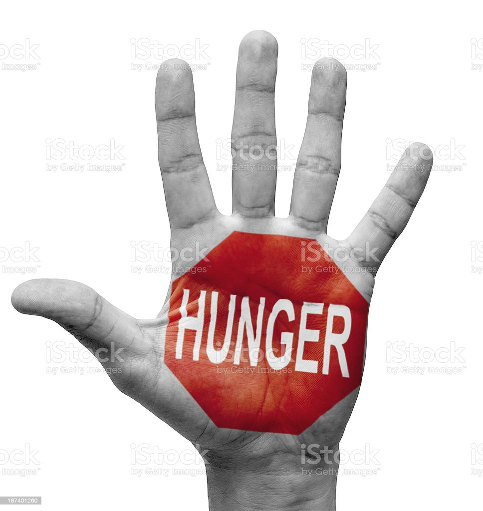 Hunger - Stop Concept. royalty-free stock photo