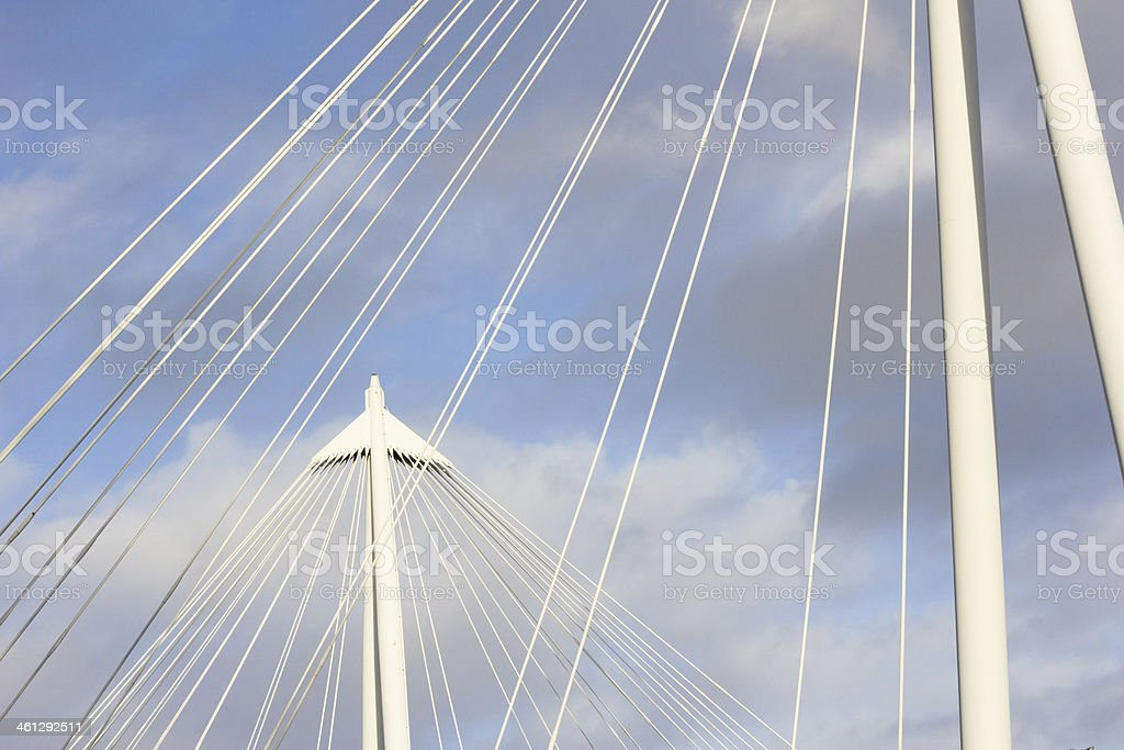 Hungerford Bridge in London, England royalty-free stock photo