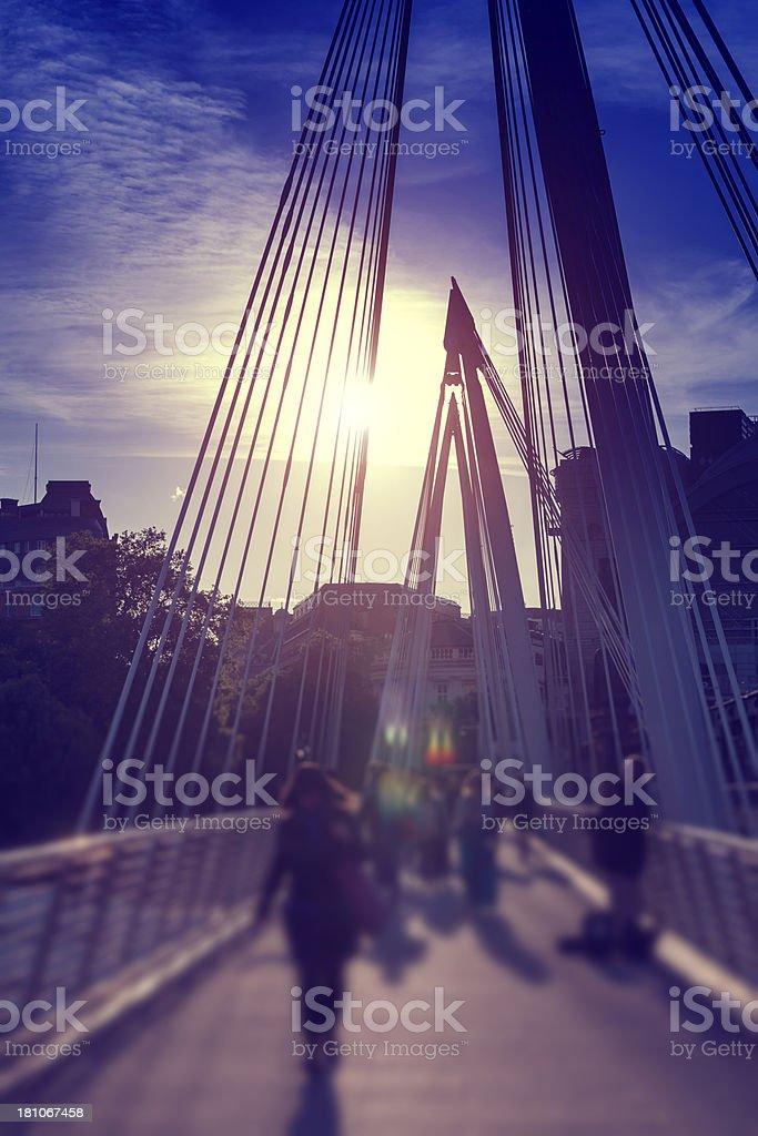 Hungerford Bridge stock photo