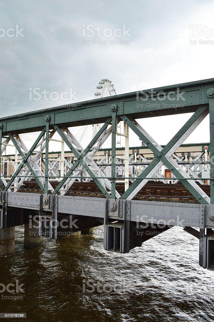 Puente Hungerford foto de stock libre de derechos