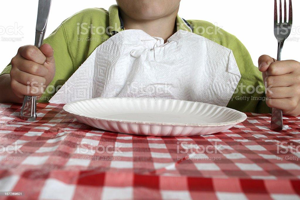 hungry child stock photo