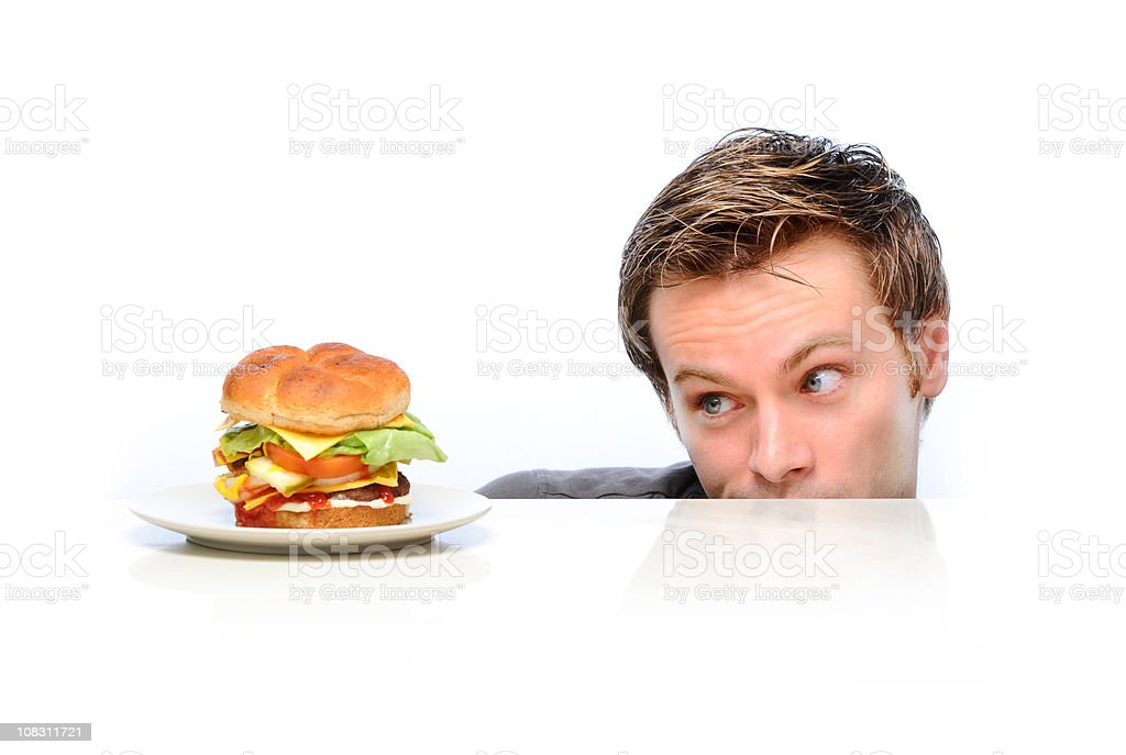 Hungry for a burger royalty-free stock photo