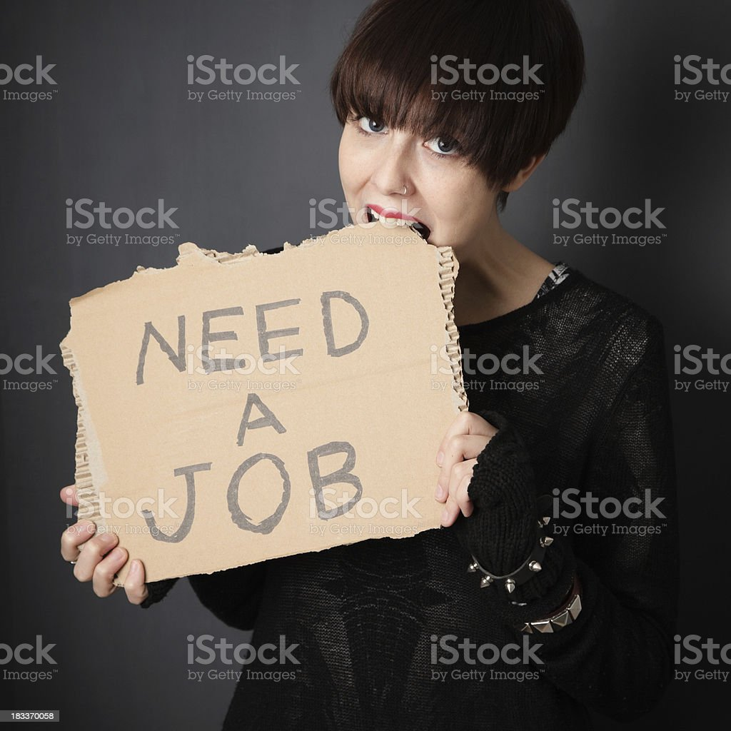 Hungry for job royalty-free stock photo