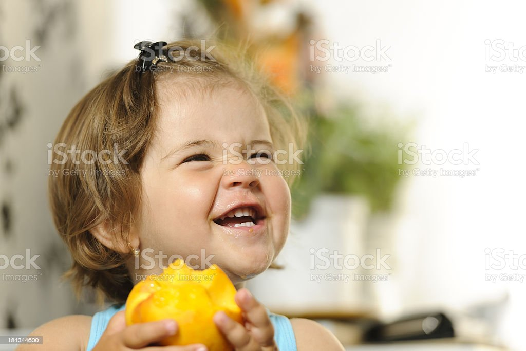 hungry girl laughing royalty-free stock photo