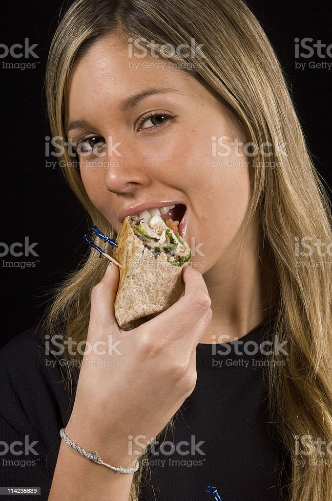 Hungry girl royalty-free stock photo
