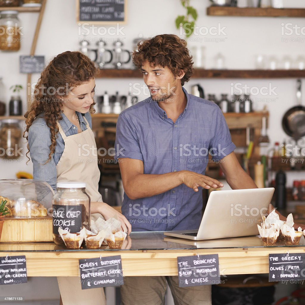 Hungry hipsters = great profit margins! stock photo