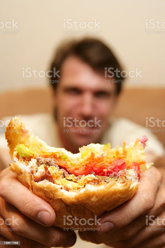 Hungry Man stock photo
