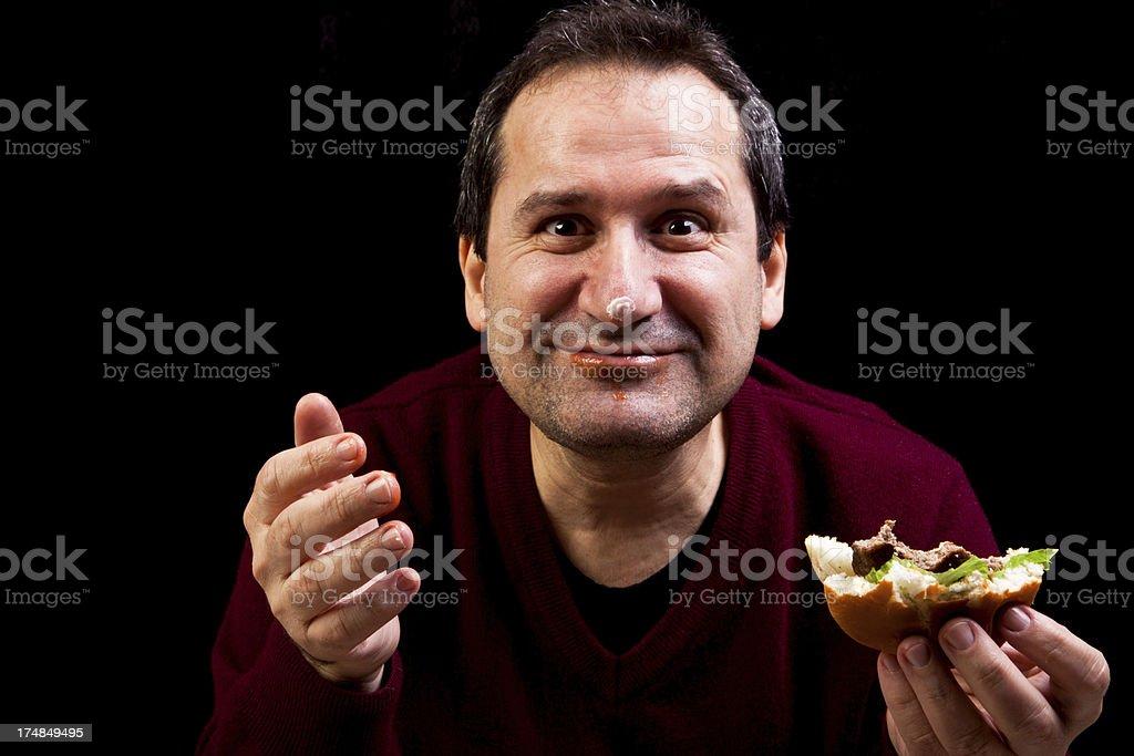 hungry man royalty-free stock photo