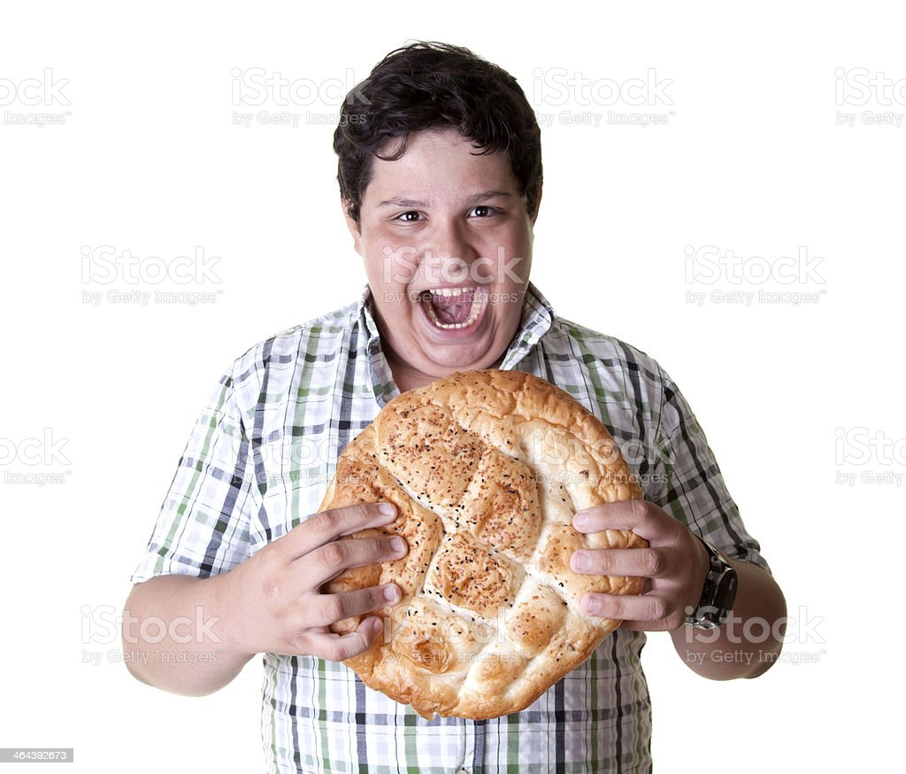 hungry man ready to eat royalty-free stock photo