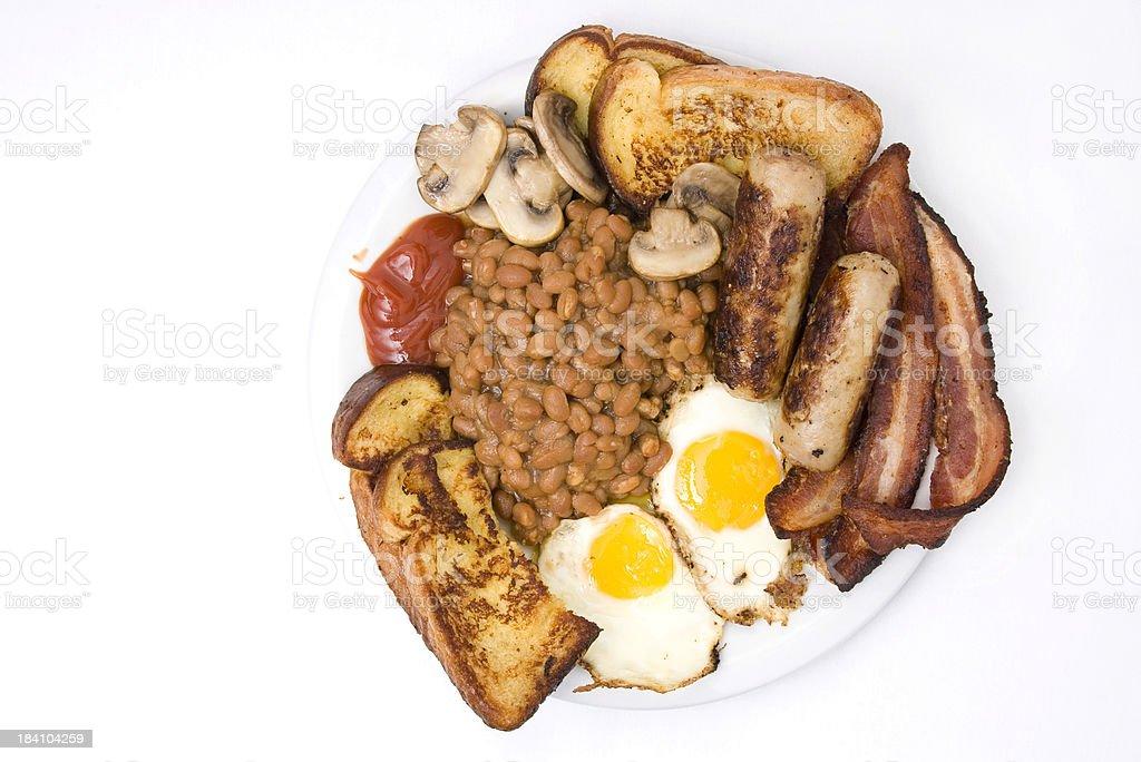 Hungry Man's Breakfast royalty-free stock photo