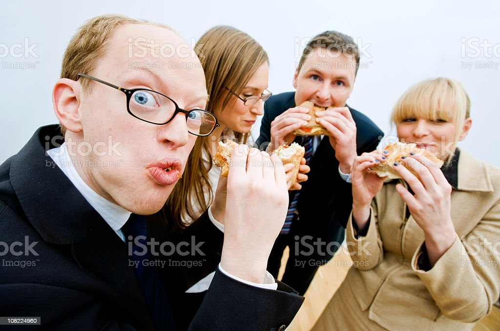 hungry office worker royalty-free stock photo