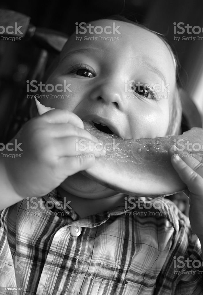 Hungry Toddler royalty-free stock photo