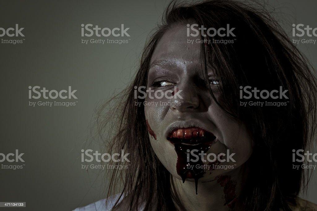 hungry zombie stock photo