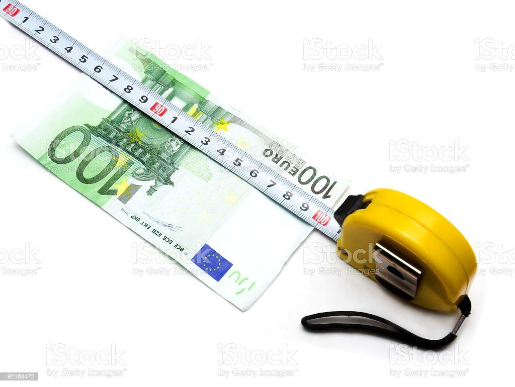 Hunred 100 Euros stock photo