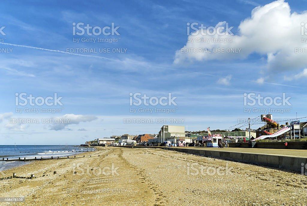 Hunstanton beach and amusements royalty-free stock photo