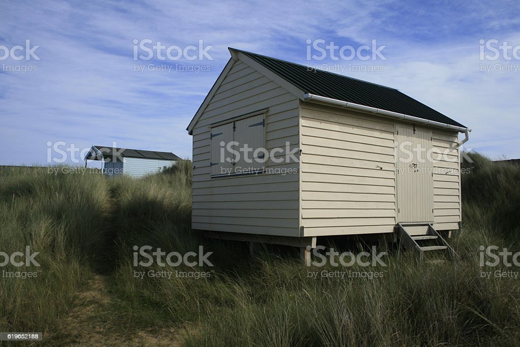 Hunstanton Beach Huts stock photo