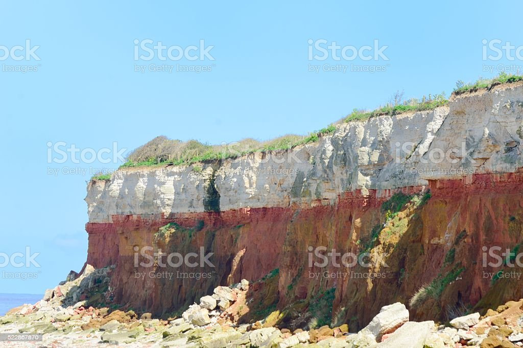 Hunstanton Cliffs stock photo