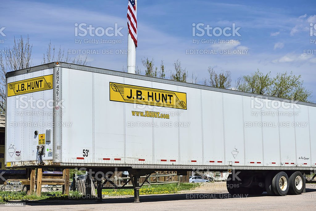 J. B. Hunt royalty-free stock photo