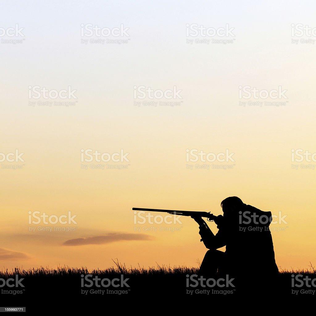Hunter Aiming stock photo