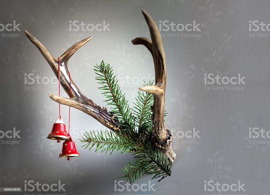 Hunter Christmas ornament stock photo