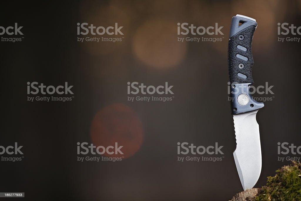 hunter knife stock photo