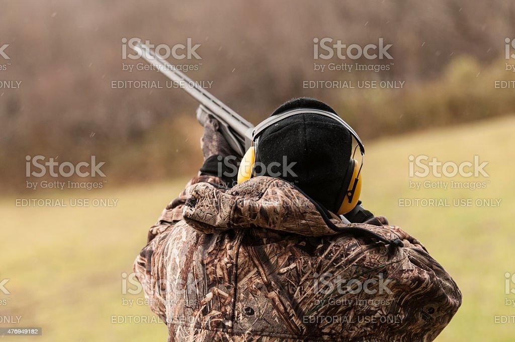 Hunter Takes Aim at Target stock photo