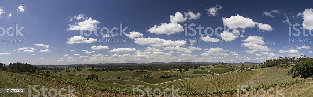Hunter Valley Australia wide stock photo