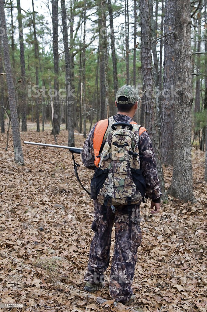 Hunter with Rifle royalty-free stock photo