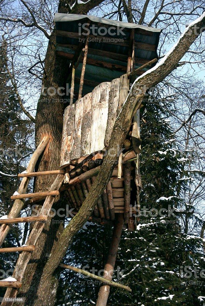 Hunter's cabin royalty-free stock photo
