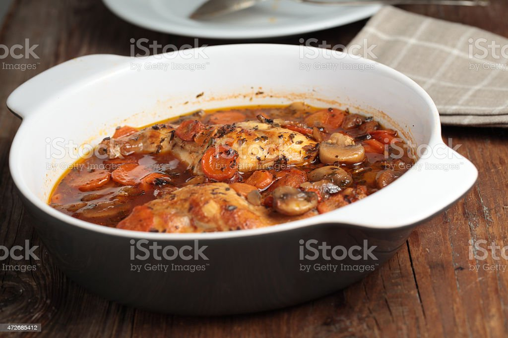 Hunter's rabbit stew stock photo