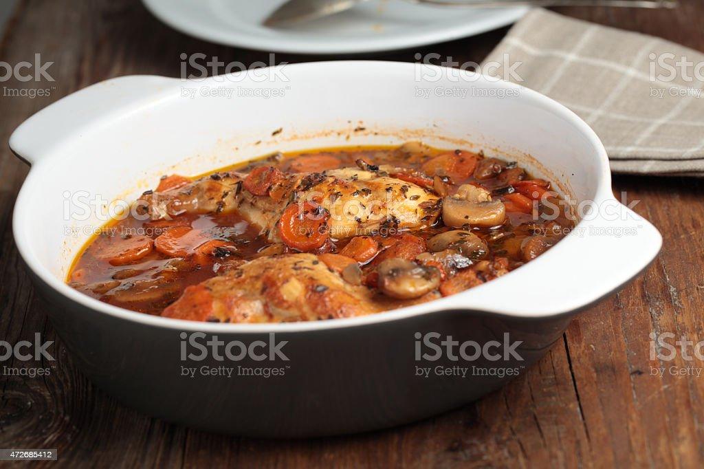 Hunter's rabbit stew stock photo
