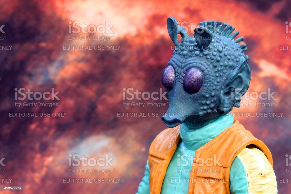Hunting Across the Stars stock photo