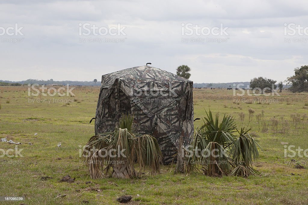 Hunting Blind royalty-free stock photo