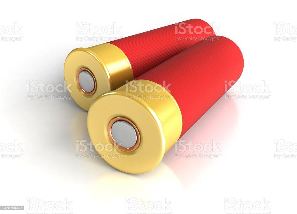 Hunting cartridges stock photo