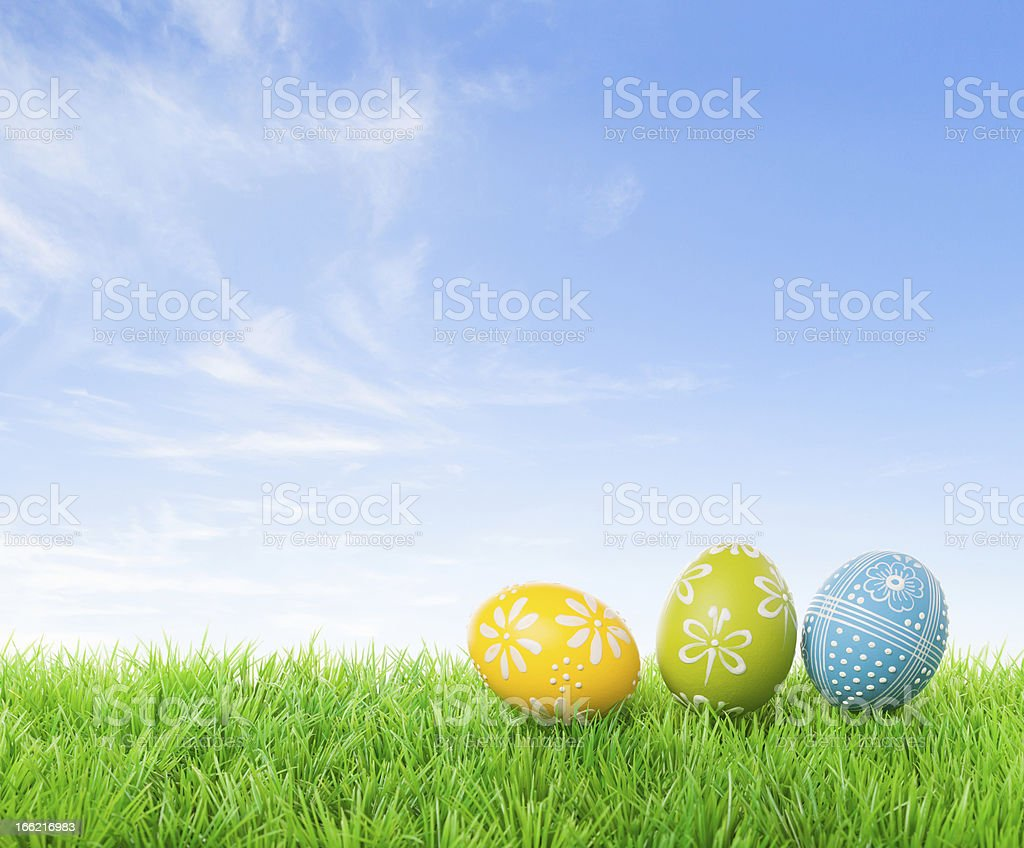 Hunting easter eggs royalty-free stock photo