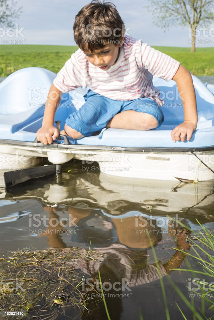 Hunting for frogs royalty-free stock photo