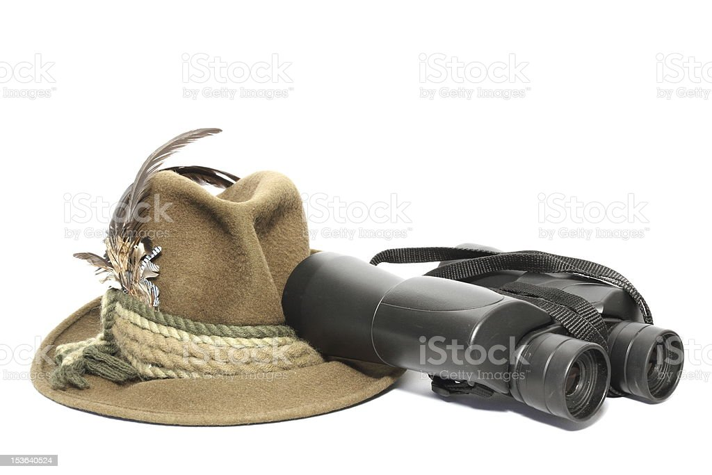 hunting gear arrangement royalty-free stock photo